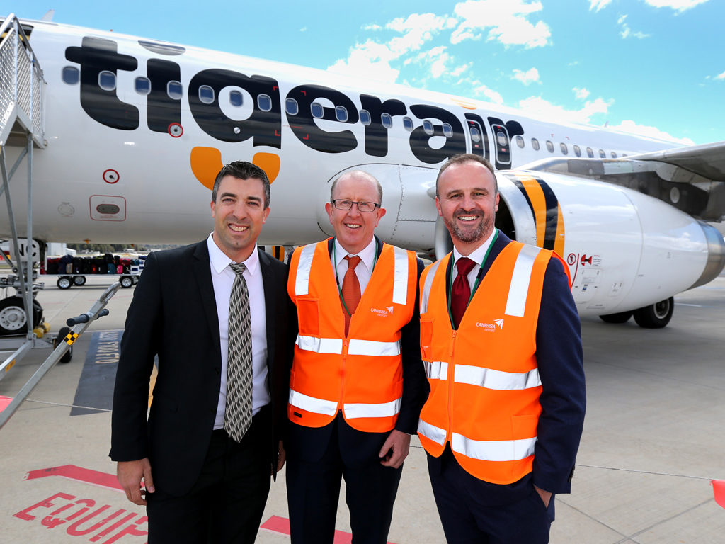 Tigerair flight from Brisbane roars into Canberra