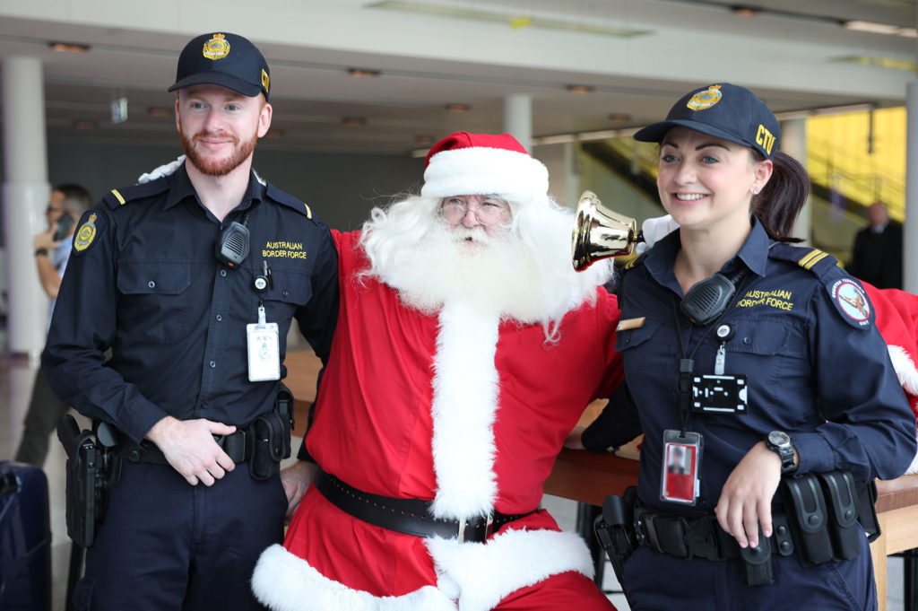 Santa with Australian Border Force