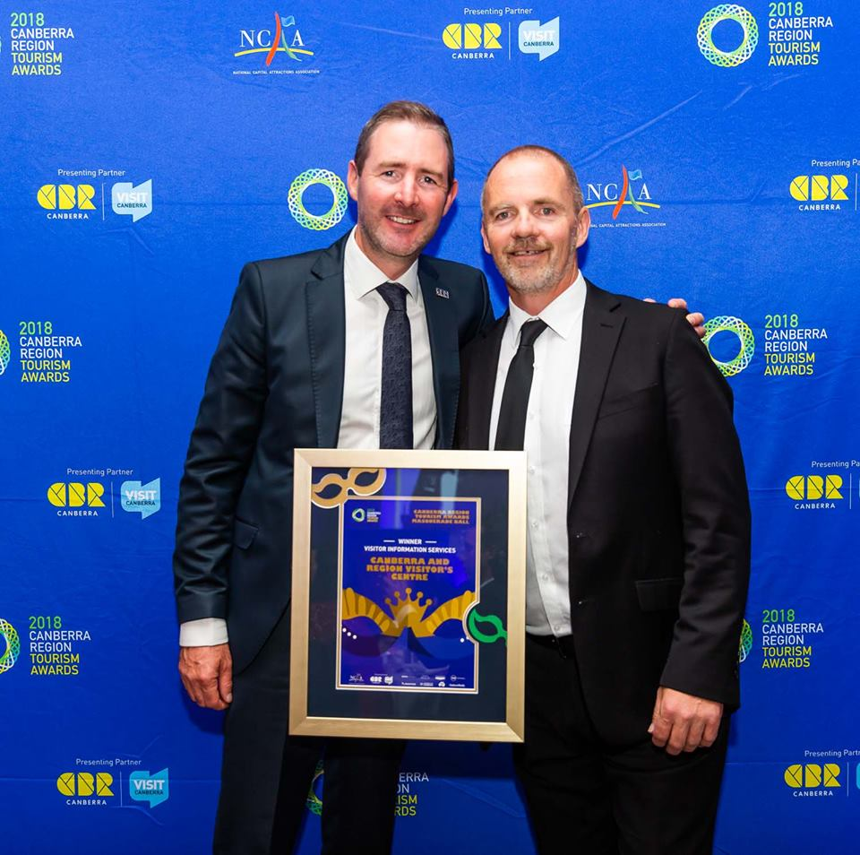 Visitor Information Services winner Canberra and Region Visitors Centre