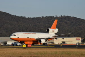 DC-10 arrival into Canberra